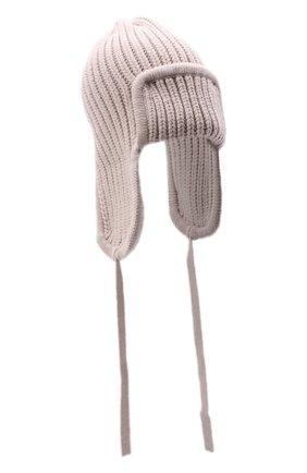Женская шапка из шерсти и кашемира TAK.ORI бежевого цвета, арт. HTK30041WC030AW20 | Фото 1 (Материал: Кашемир, Шерсть)