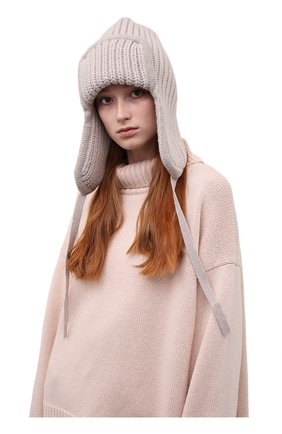 Женская шапка из шерсти и кашемира TAK.ORI бежевого цвета, арт. HTK30041WC030AW20 | Фото 2 (Материал: Кашемир, Шерсть)