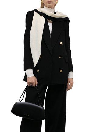 Женский шарф из шерсти и кашемира TAK.ORI кремвого цвета, арт. SCK90023WC030AW21 | Фото 2 (Материал: Кашемир, Шерсть)