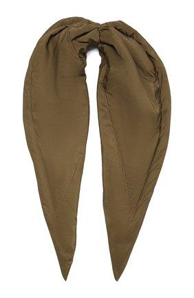 Женский утепленная косынка TAK.ORI хаки цвета, арт. SCT90070PL100AW21 | Фото 1 (Материал: Текстиль, Синтетический материал)