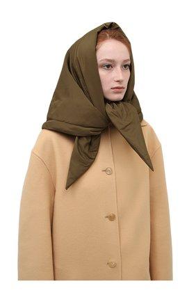 Женский утепленная косынка TAK.ORI хаки цвета, арт. SCT90070PL100AW21 | Фото 2 (Материал: Текстиль, Синтетический материал)