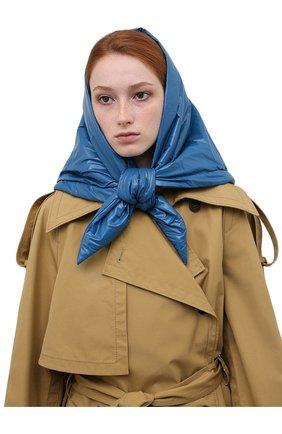 Женский утепленная косынка TAK.ORI синего цвета, арт. SCT90070PL100AW21 | Фото 2 (Материал: Синтетический материал, Текстиль)