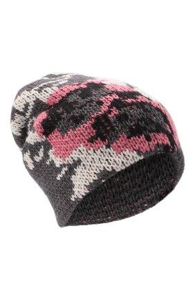 Женская шапка TAK.ORI серого цвета, арт. HTK51042WP037AW19 | Фото 1 (Материал: Текстиль, Синтетический материал, Шерсть)