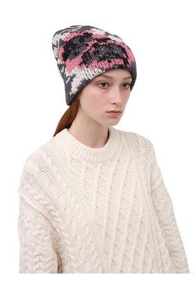 Женская шапка TAK.ORI серого цвета, арт. HTK51042WP037AW19 | Фото 2 (Материал: Текстиль, Синтетический материал, Шерсть)