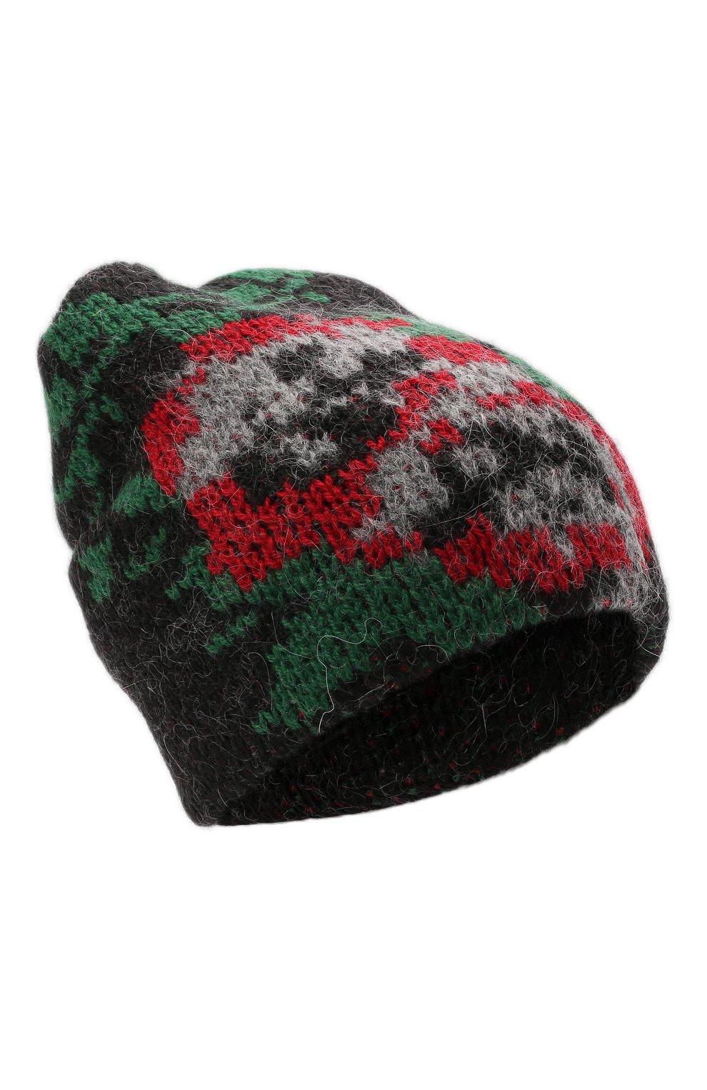 Женская шапка TAK.ORI черного цвета, арт. HTK51042WP037AW19   Фото 1 (Материал: Текстиль, Шерсть, Синтетический материал)