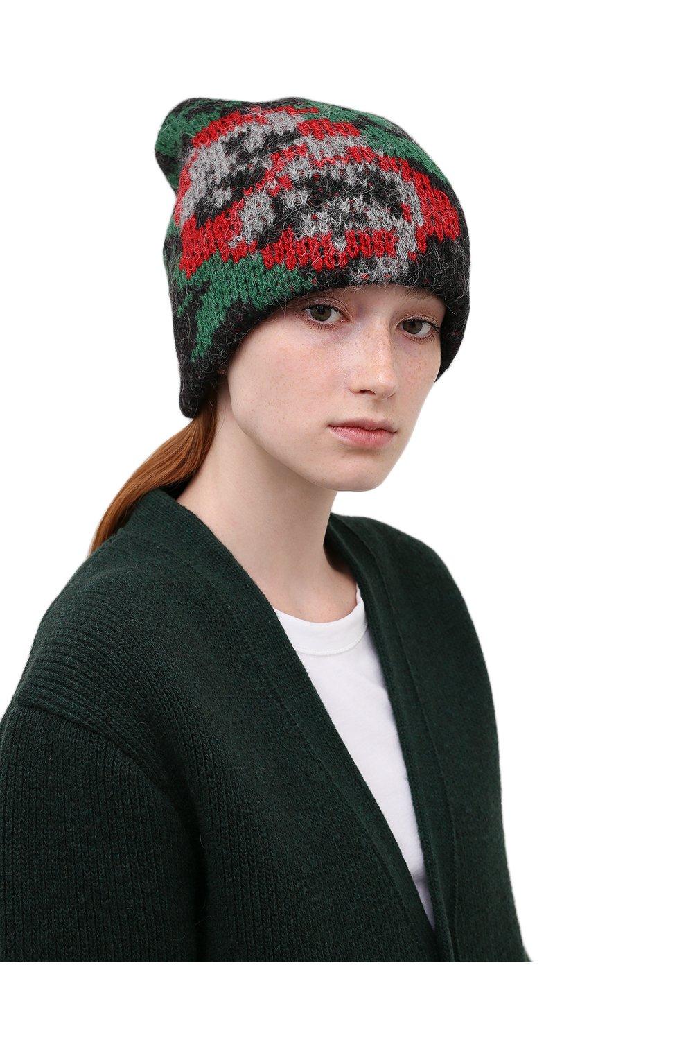 Женская шапка TAK.ORI черного цвета, арт. HTK51042WP037AW19   Фото 2 (Материал: Текстиль, Шерсть, Синтетический материал)