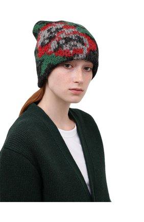Женская шапка TAK.ORI черного цвета, арт. HTK51042WP037AW19 | Фото 2 (Материал: Шерсть, Текстиль, Синтетический материал)