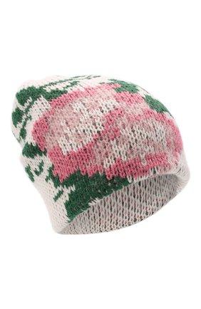 Женская шапка TAK.ORI белого цвета, арт. HTK51042WP037AW19 | Фото 1 (Материал: Текстиль, Синтетический материал, Шерсть)