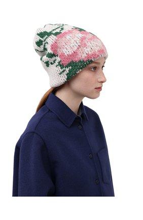Женская шапка TAK.ORI белого цвета, арт. HTK51042WP037AW19 | Фото 2 (Материал: Текстиль, Синтетический материал, Шерсть)