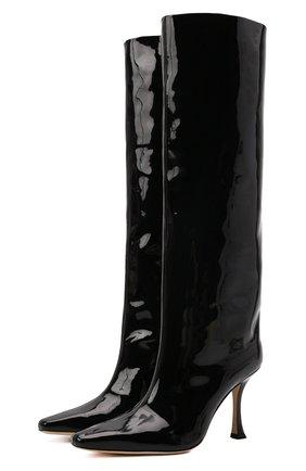 Женские кожаные сапоги chad 90 JIMMY CHOO черного цвета, арт. CHAD 90/S0P   Фото 1 (Материал внутренний: Натуральная кожа; Высота голенища: Средние; Каблук высота: Высокий; Подошва: Плоская; Каблук тип: Шпилька)