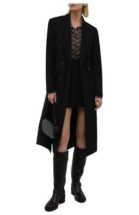 Женские кожаные сапоги GIANVITO ROSSI темно-коричневого цвета, арт. G80342.45G0M.CLYM0M0   Фото 2 (Высота голенища: Средние; Каблук высота: Средний; Материал утеплителя: Натуральный мех; Подошва: Платформа; Каблук тип: Устойчивый)