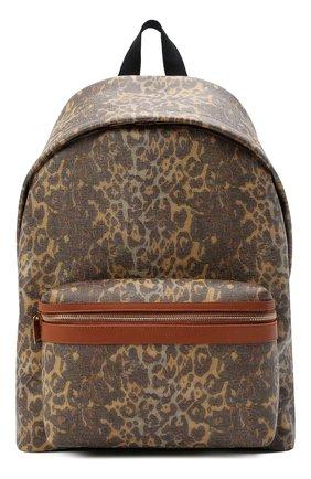 Женский рюкзак city medium SAINT LAURENT леопардового цвета, арт. 534967/24A2W | Фото 1 (Материал: Текстиль; Размер: medium; Стили: Кэжуэл)