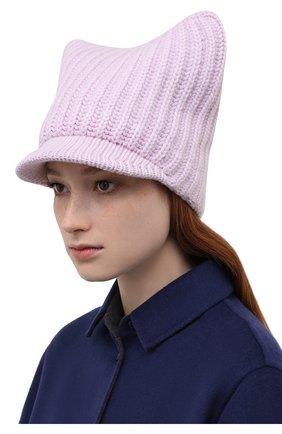 Женская шапка из шерсти и кашемира STELLA MCCARTNEY сиреневого цвета, арт. 604031/S2273 | Фото 2 (Материал: Кашемир, Шерсть)