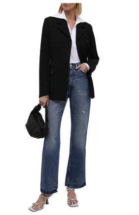 Женские джинсы ACNE STUDIOS тёмно-голубого цвета, арт. A00309   Фото 2 (Длина (брюки, джинсы): Стандартные; Материал внешний: Хлопок; Стили: Минимализм; Кросс-КТ: Деним; Силуэт Ж (брюки и джинсы): Прямые)