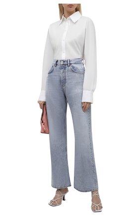 Женские джинсы ACNE STUDIOS серо-голубого цвета, арт. A00291   Фото 2 (Материал внешний: Хлопок; Длина (брюки, джинсы): Стандартные; Стили: Минимализм; Кросс-КТ: Деним; Силуэт Ж (брюки и джинсы): Прямые)