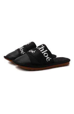 Женского домашние туфли woody CHLOÉ кремвого цвета, арт. CHC21A489R4   Фото 1 (Материал внутренний: Натуральная кожа; Подошва: Платформа)