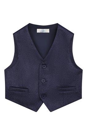 Детский жилет blue ZHANNA & ANNA синего цвета, арт. ZABL40062021_1 | Фото 1 (Материал внешний: Синтетический материал; Рукава: Короткие; Мальчики Кросс-КТ: Жилет-одежда)