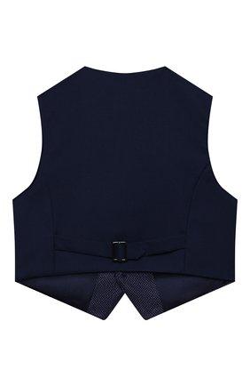 Детский жилет blue ZHANNA & ANNA синего цвета, арт. ZABL40062021_1 | Фото 2 (Материал внешний: Синтетический материал; Рукава: Короткие; Мальчики Кросс-КТ: Жилет-одежда)