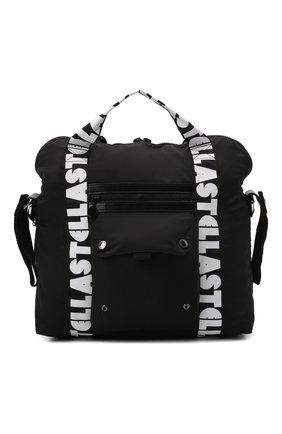 Детская сумка STELLA MCCARTNEY черного цвета, арт. 603474/SRD10   Фото 1 (Материал: Текстиль)