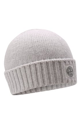 Детского хлопковая шапка STONE ISLAND светло-серого цвета, арт. 7516N04A9 | Фото 1 (Материал: Текстиль, Хлопок)