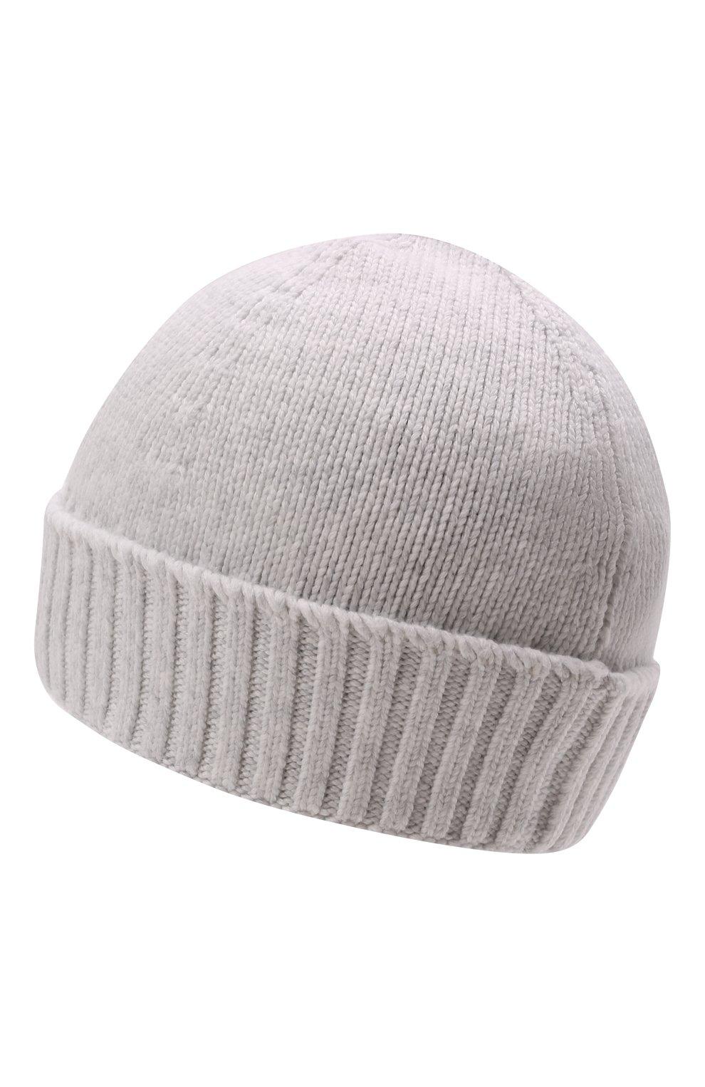 Детского хлопковая шапка STONE ISLAND светло-серого цвета, арт. 7516N04A9   Фото 2 (Материал: Текстиль, Хлопок)