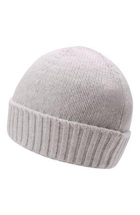 Детского хлопковая шапка STONE ISLAND светло-серого цвета, арт. 7516N04A9 | Фото 2 (Материал: Текстиль, Хлопок)