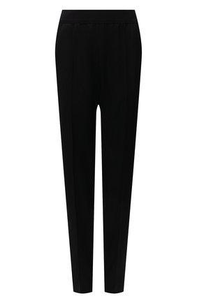 Женские шерстяные брюки JIL SANDER черного цвета, арт. JSWT315000-WT202500 | Фото 1 (Материал внешний: Шерсть; Стили: Минимализм; Длина (брюки, джинсы): Стандартные; Женское Кросс-КТ: Брюки-одежда; Силуэт Ж (брюки и джинсы): Прямые)