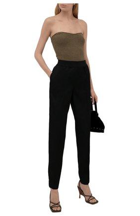 Женские шерстяные брюки JIL SANDER черного цвета, арт. JSWT315000-WT202500 | Фото 2 (Материал внешний: Шерсть; Стили: Минимализм; Длина (брюки, джинсы): Стандартные; Женское Кросс-КТ: Брюки-одежда; Силуэт Ж (брюки и джинсы): Прямые)