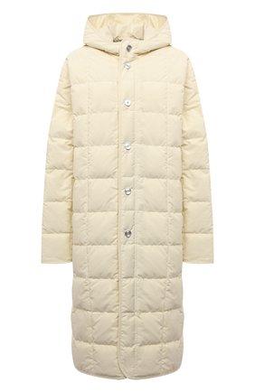 Женская пуховая куртка JIL SANDER кремвого цвета, арт. JPPT440694-WT441100   Фото 1 (Рукава: Длинные; Стили: Минимализм; Длина (верхняя одежда): Длинные; Материал утеплителя: Пух и перо; Материал внешний: Синтетический материал; Материал подклада: Синтетический материал; Кросс-КТ: Куртка; Женское Кросс-КТ: Пуховик-куртка)
