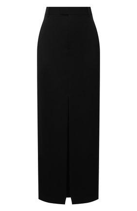 Женская шерстяная юбка BOTTEGA VENETA черного цвета, арт. 659561/VKIS0 | Фото 1 (Длина Ж (юбки, платья, шорты): Миди; Стили: Гламурный; Материал внешний: Шерсть; Женское Кросс-КТ: Юбка-одежда)