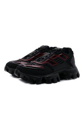 Мужские кроссовки cloudbust thunder PRADA черного цвета, арт. 2EG293-3LGN-F0002 | Фото 1 (Материал внешний: Текстиль; Стили: Гранж)