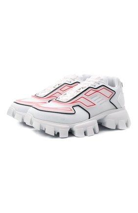 Мужские кроссовки cloudbust thunder PRADA белого цвета, арт. 2EG293-3LGN-F0009 | Фото 1 (Материал внешний: Текстиль; Стили: Гранж)