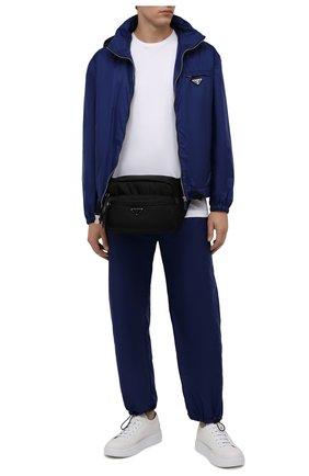Мужские кожаные кеды PRADA белого цвета, арт. 4E3560-A21-F0009 | Фото 2
