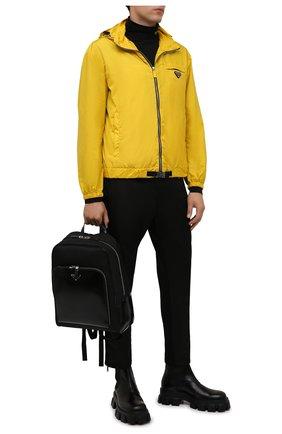 Мужской рюкзак PRADA черного цвета, арт. 2VZ084-789-F0002-OOO | Фото 2 (Материал: Текстиль)