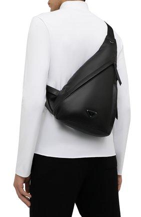 Мужской кожаный рюкзак PRADA черного цвета, арт. 2VZ092-2DXV-F0002-OOO | Фото 2 (Материал: Натуральная кожа)