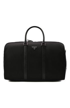 Мужская дорожная сумка PRADA черного цвета, арт. 2VC007-2DMH-F0002-SOO | Фото 1 (Материал: Текстиль)