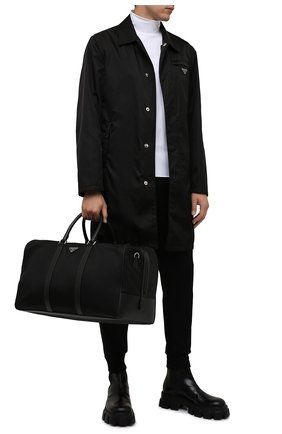 Мужская дорожная сумка PRADA черного цвета, арт. 2VC007-2DMH-F0002-SOO | Фото 2 (Материал: Текстиль)