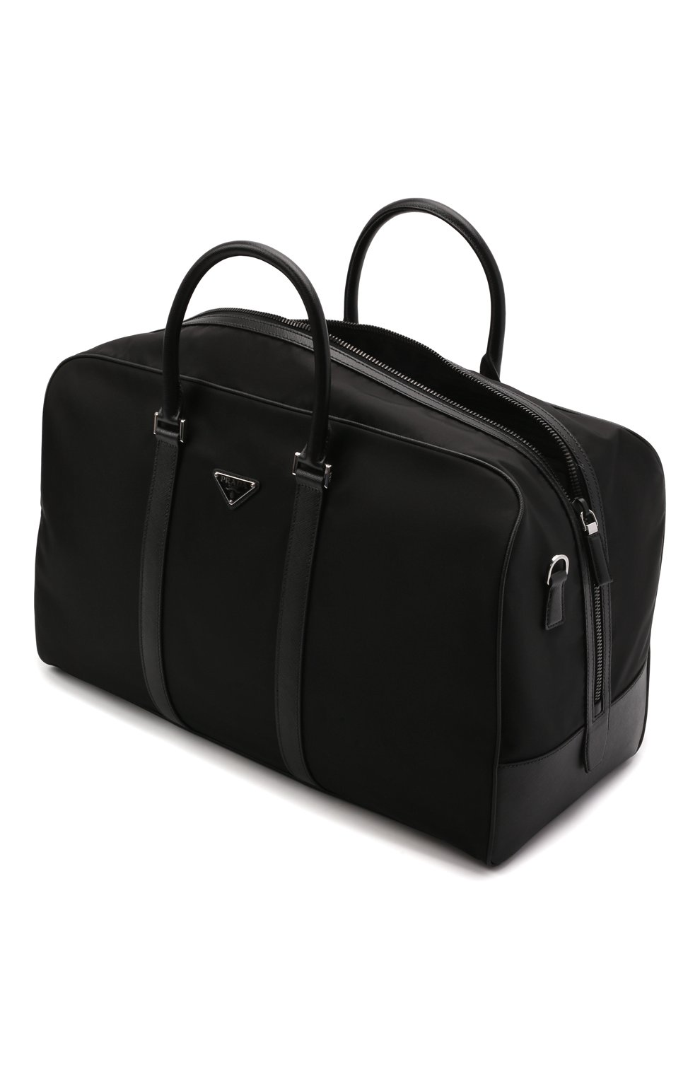 Мужская дорожная сумка PRADA черного цвета, арт. 2VC007-2DMH-F0002-SOO | Фото 4 (Материал: Текстиль)