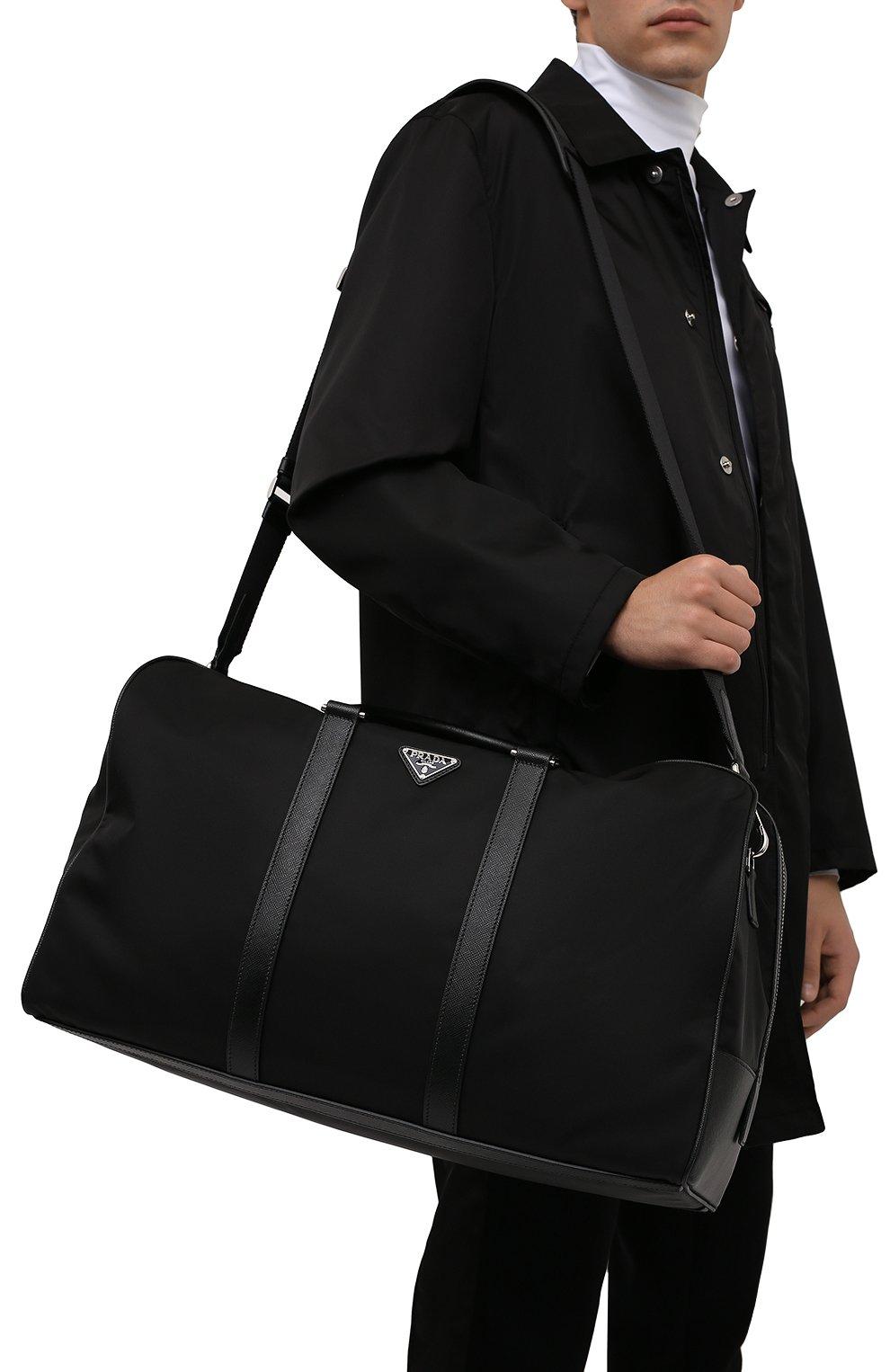 Мужская дорожная сумка PRADA черного цвета, арт. 2VC007-2DMH-F0002-SOO | Фото 5 (Материал: Текстиль)