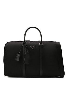 Мужская дорожная сумка PRADA черного цвета, арт. 2VC007-2DMH-F0002-SOO | Фото 6 (Материал: Текстиль)