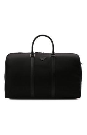 Мужская дорожная сумка PRADA черного цвета, арт. 2VC013-2DMH-F0002-SOO | Фото 1 (Материал: Текстиль)