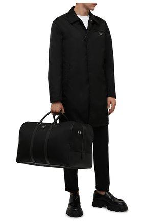 Мужская дорожная сумка PRADA черного цвета, арт. 2VC013-2DMH-F0002-SOO | Фото 2 (Материал: Текстиль)