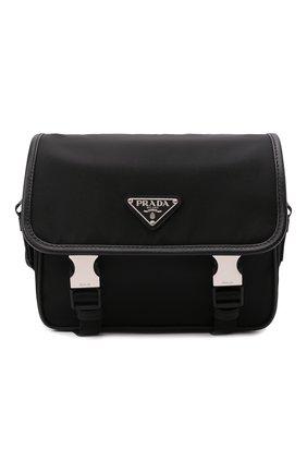 Мужская сумка PRADA черного цвета, арт. 2VD034-2DMH-F0002-WOO | Фото 1 (Материал: Текстиль)