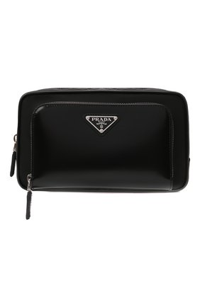 Мужская поясная сумка PRADA черного цвета, арт. 2VL977-789-F0002-WOT | Фото 1 (Материал: Текстиль)