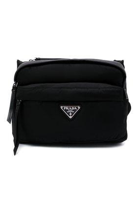 Мужская поясная сумка PRADA черного цвета, арт. 2VH038-2DW3-F0002-YOO | Фото 1 (Материал: Текстиль)