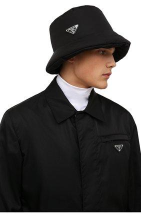 Мужская панама PRADA черного цвета, арт. 2HC248-IYK-F0002 | Фото 2 (Материал: Текстиль, Синтетический материал)