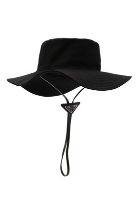 Мужская хлопковая панама PRADA черного цвета, арт. 2HC250-2DXI-F0002 | Фото 1 (Материал: Текстиль, Хлопок)