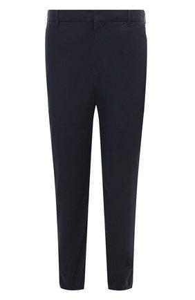 Мужские хлопковые брюки PRADA темно-синего цвета, арт. SPH149-1UP4-F0GX3-212   Фото 1 (Материал внешний: Хлопок; Случай: Повседневный; Стили: Кэжуэл)