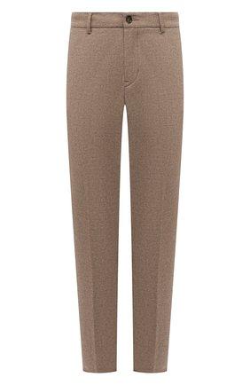 Мужские брюки BOGNER бежевого цвета, арт. 18043337   Фото 1 (Материал внешний: Шерсть, Синтетический материал; Длина (брюки, джинсы): Стандартные; Случай: Повседневный; Стили: Кэжуэл)