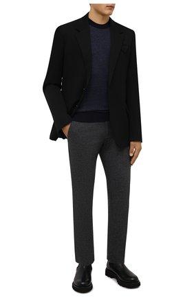 Мужские брюки BOGNER темно-серого цвета, арт. 18043337 | Фото 2 (Материал внешний: Шерсть, Синтетический материал; Случай: Повседневный; Стили: Кэжуэл; Длина (брюки, джинсы): Стандартные)